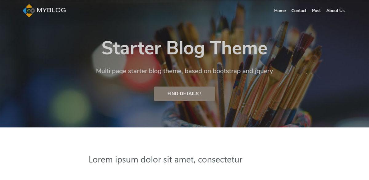 Multi Page Blog Theme