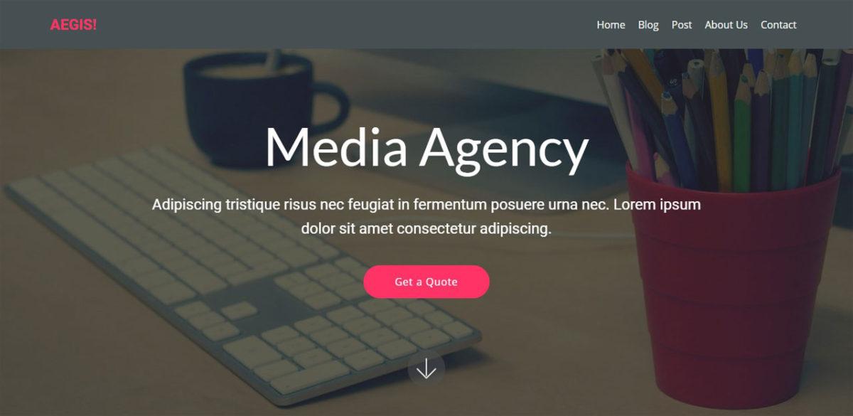 Aegis Agency Theme