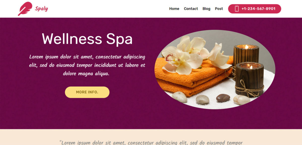 Spaly – Bootstrap Spa Theme