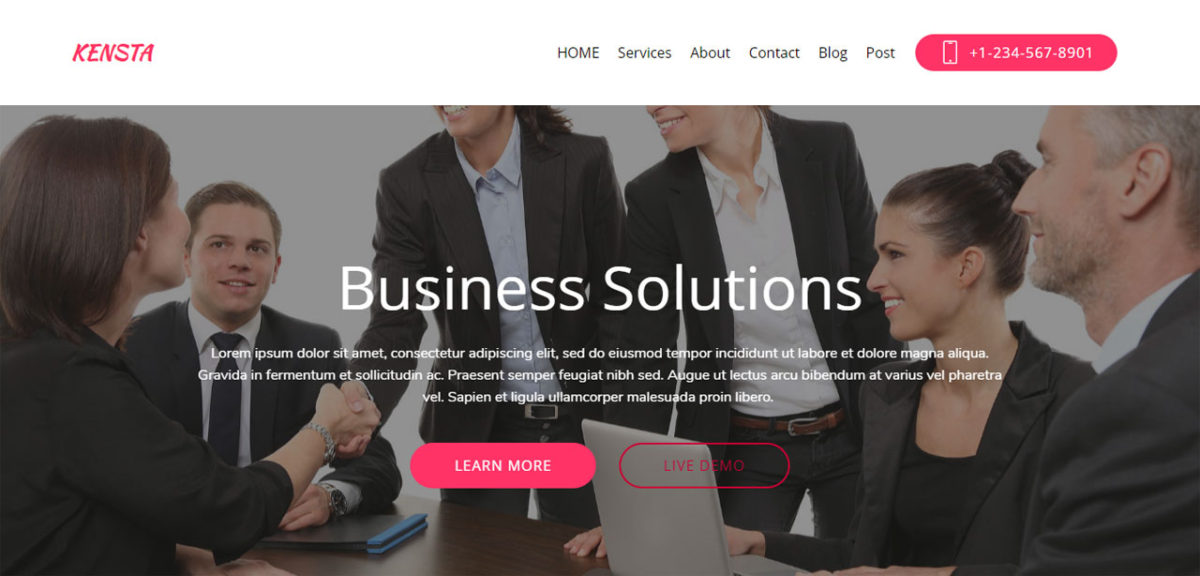 Kensta – Bootstrap Corporate Theme